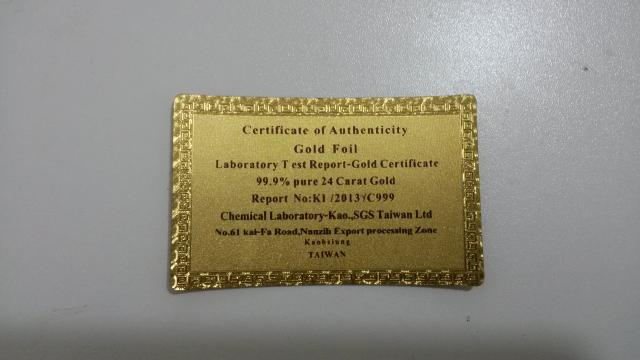 1pcs 24k gold foil banknotes paper money collections gold