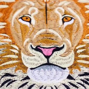 Image 2 - 10 חתיכות האריה רקמת ברזל על חזרה תיקוני רקום Applique תיקון תוויות מדבקת בגדי תפירת אביזרי TH1256