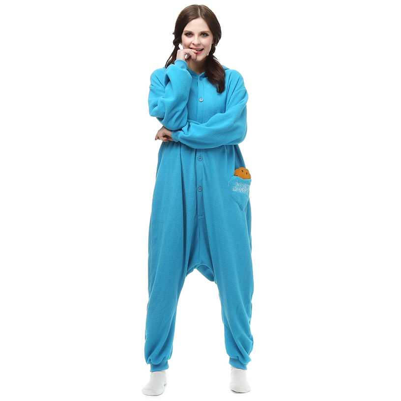 Adults-Polar-Fleece-Kigurumi-Cookie-Monster-Cosplay-Costume-Animal-Onesie-Pajamas-Halloween-Carnival-Masquerade-Party-Jumpsuit (2)