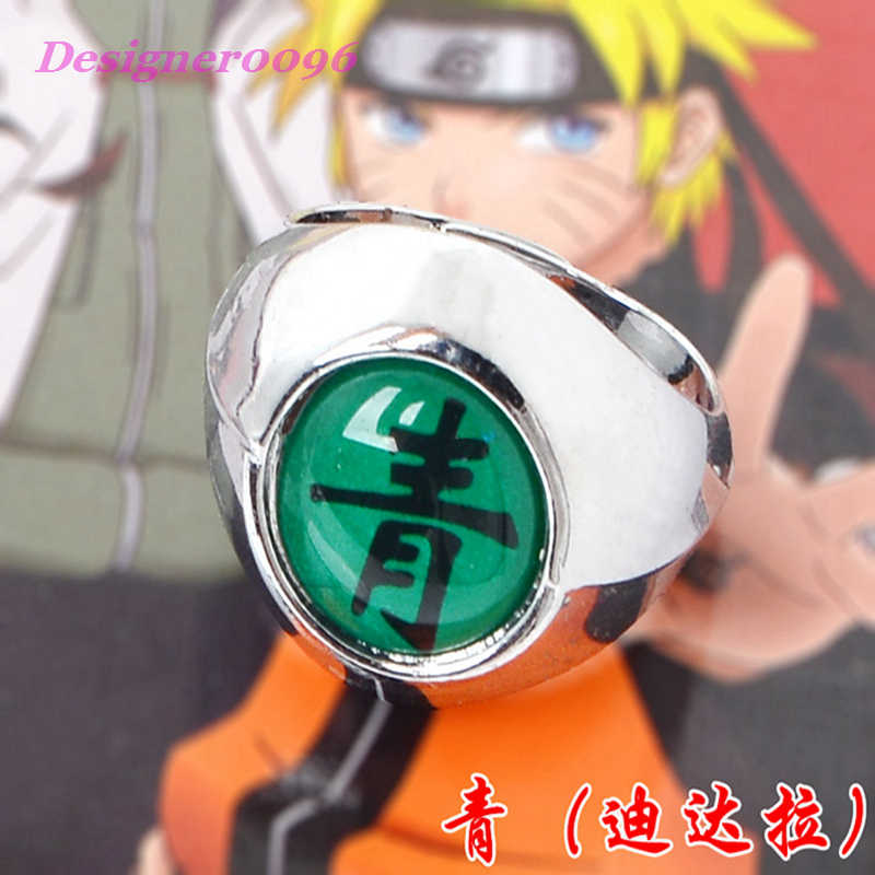 Naruto Anmie คอสเพลย์ Akatsuki organization แหวนตัวอักษรอะนิเมะอุปกรณ์เสริม Uchiha Itachi Orochimaru ของที่ระลึก 10 สไตล์