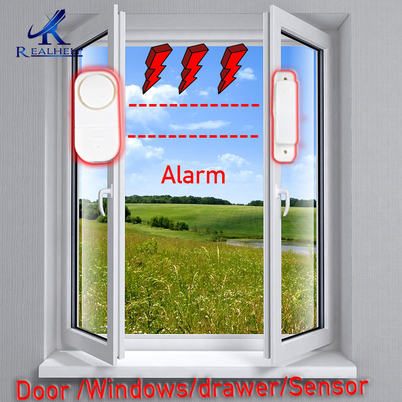 Wireless Home Security Alarm System DIY Kit Window Sensor Alram Security Burglar Alarm for Homes, Cars, Sheds, Caravans