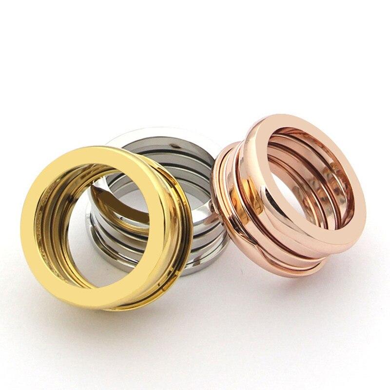 Классические модные Нержавеющая сталь Весна Кольца для Для женщин мужчин Болгарии Свадебные Обручение кольцо Fine Jewelry никогда не увядает ра... ...