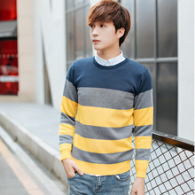 Thanksgiving Day 2017  Offers Plus size M-XXL 2016 new men's round neck pullover sweater Korean version of Slim