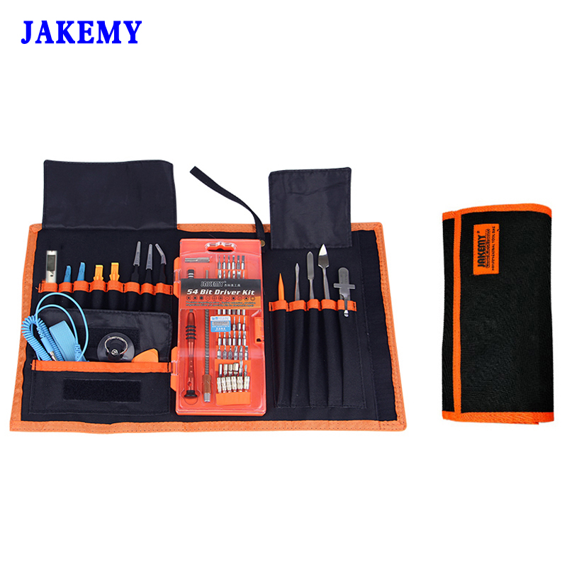 Kit d'outils de réparation professionnelle 74 en 1 jeu de tournevis/outil d'ouverture/couteau/règle/pince à épiler entretien Ferramentas Herramientas
