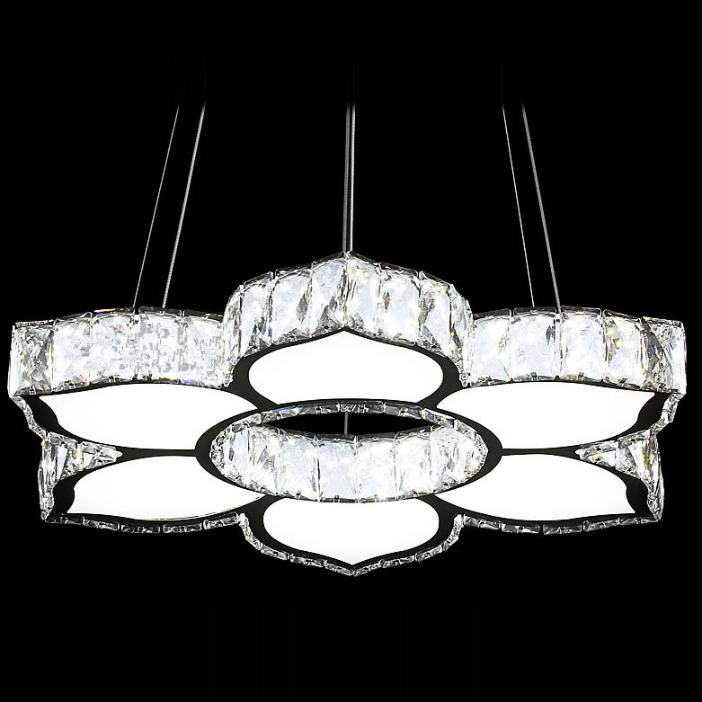 Modern led crystal ceiling light flower lamp shade hanging lamp modern led crystal ceiling light flower lamp shade hanging lamp light fixtures living room lustres home lighting in ceiling lights from lights lighting mozeypictures Choice Image