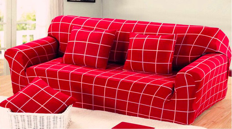 US $27.54 5% OFF|Spandex Stretch Red Grid Skid proof Sofa Cover Big  Elasticity 100% Polyester Sofa Furniture Cover-in Sofa Cover from Home &  Garden on ...