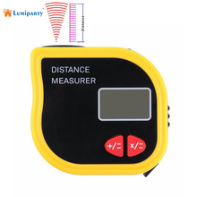 Buy online LumiParty Handheld Ultrasonic Tape Measure Mini Laser Distance Meter Ultrasonic Rangefinder Roulette Measure Laser Range finder