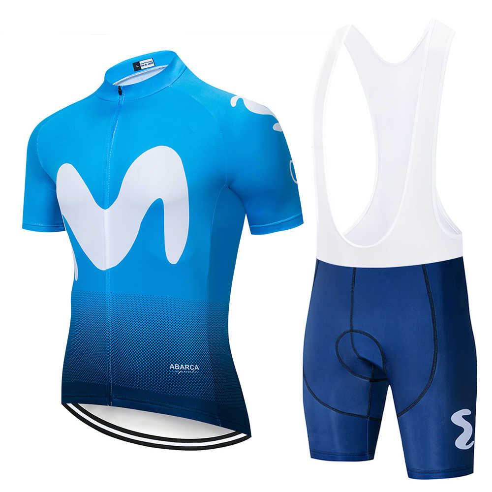 eebd4cc6b 2019 Movistar Team short-sleeved cycling Jersey suit bib roa ciclismo  bicycle suit MTB bicycle