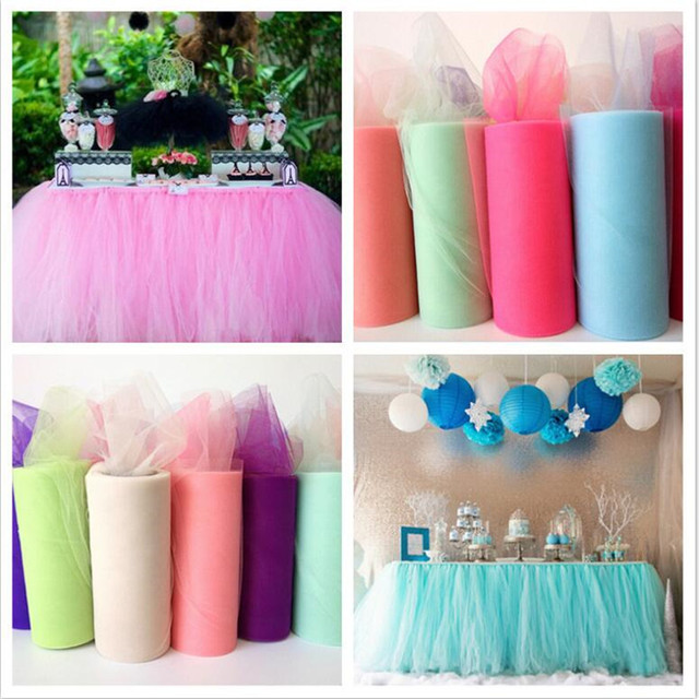 Wholesale Christmas Gift Girls Soft Tutu Tulle Roll 100 Yards 6inch Fabric White Pink Black 40 Colors For Skirt In Party DIY Decorations From