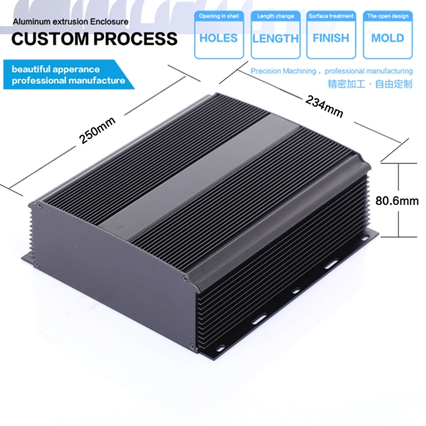 YGS-028-1 234*80*250/9.2x3.15x9.84(wxhxl)mm Guangzhou custom aluminum enclosure housingYGS-028-1 234*80*250/9.2x3.15x9.84(wxhxl)mm Guangzhou custom aluminum enclosure housing
