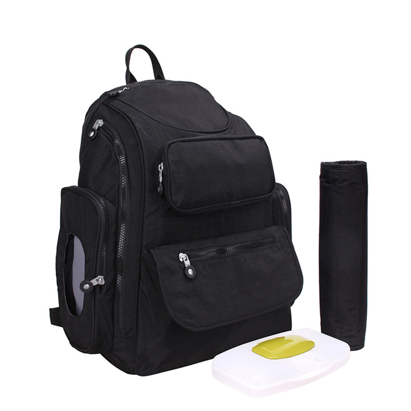 Multifunctional Large Capacity Nappy Diaper Backpack For Travel Mother Baby Backpack For Mom Bag Maternity Shoulder Bags Black multifunctional large capacity diaper bag for mother maternity backpacks for sale babies nappy mummy mom backpack for travel