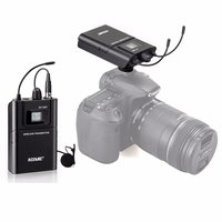 Acemic DV 100 Transmitter Receiver Mic True Diversity Interview Wireless Microphone System Special designed for DSLR Carema D