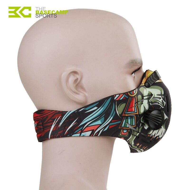 Prix pour BASECAMP Respirant Carbone Anti-PM2.5 Vélo Masque Professionnel Anti-poussière Visage Masque Coupe-Vent Sport Ski Chasse Visage Masques