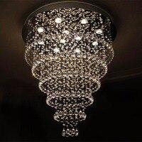 Modern living room round crystal lamp restaurant hanging line lights LED ceiling crystal lamp bedroom lighting creative lighting