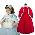NUEVAS muchachas del invierno vestido Elsa & Anna otoño vestido de niña de la princesa vestidos marca niñas Niños Ropa trajes de navidad