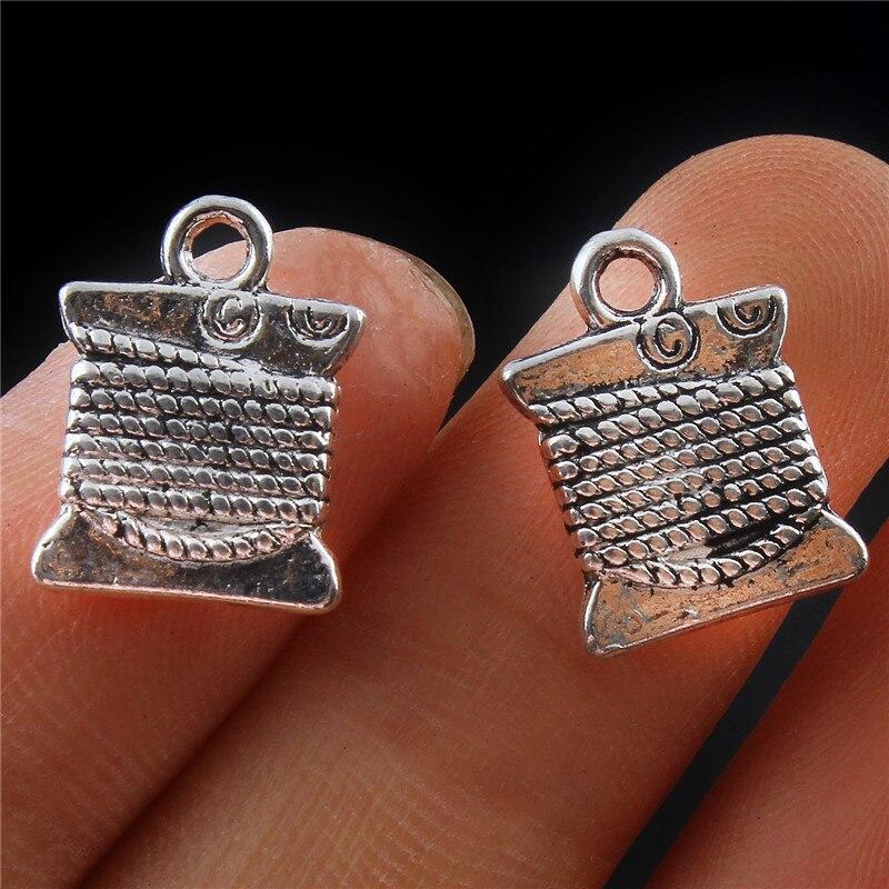 30pcs Vintage Bronze Mini Spider Look Zinc Alloy Pendants Jewelry Crafts 15*14mm