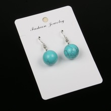 Women earrings retro simple water drop shape engraving natural stone turquoises features texture stone earrings women earrings retro simple round geometry shape engraving natural stone turquoised earrings features texture stone earrings