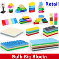Retail Bulk Big Building Blocks Accessory 2*2 2*4 2*8 4*8 8*8 Plate Baseplate Compatible with Duploe Bricks Educational Toys