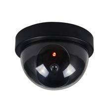 Поддельная камера беспроводная имитация видеонаблюдения Внутренняя/наружная манекен купольная камера с мигающим красным светодиодом Домашняя безопасность