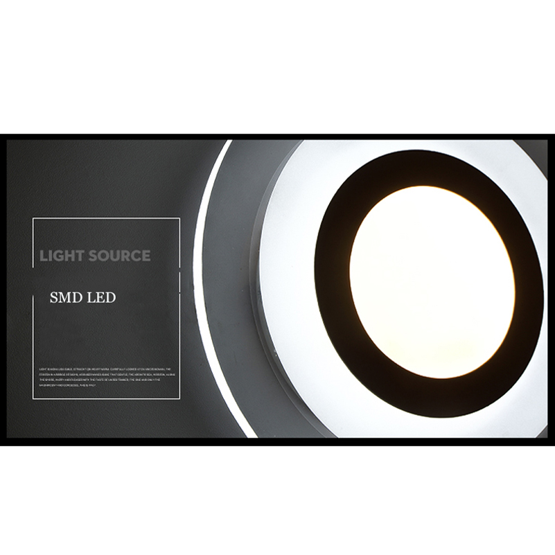 Naujos mados vadovaujamos sieninės lempos, akrilo liemenėlė, 10v - Vidinis apšvietimas - Nuotrauka 6