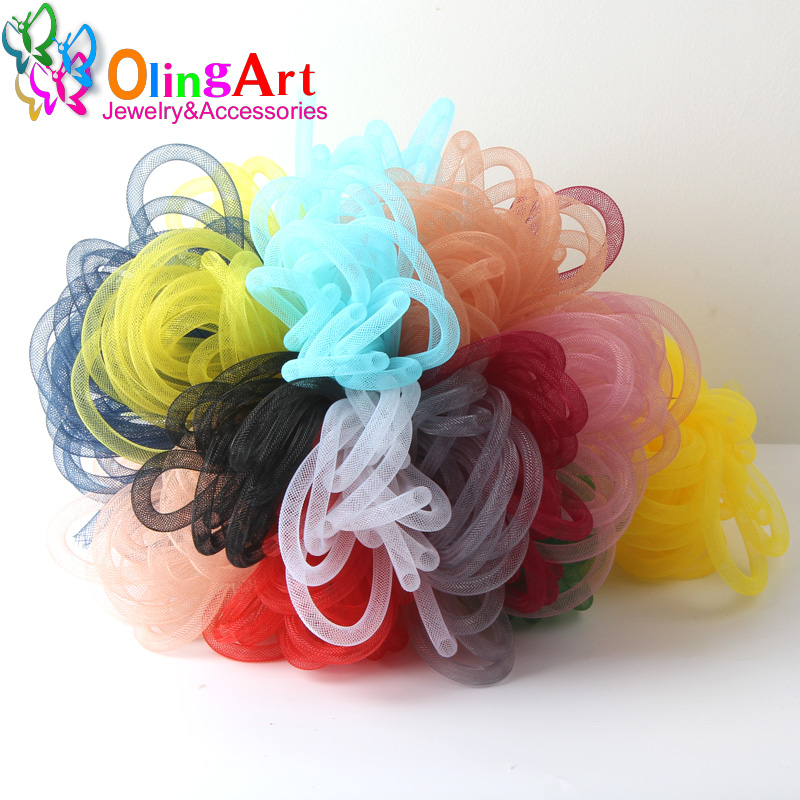 OlingArt 4mm 5M/lot Wholesale Colorful Mesh Bracelet Jewelry DIY Fitting With Crystal Stones Filled Necklace Choker 2019 New