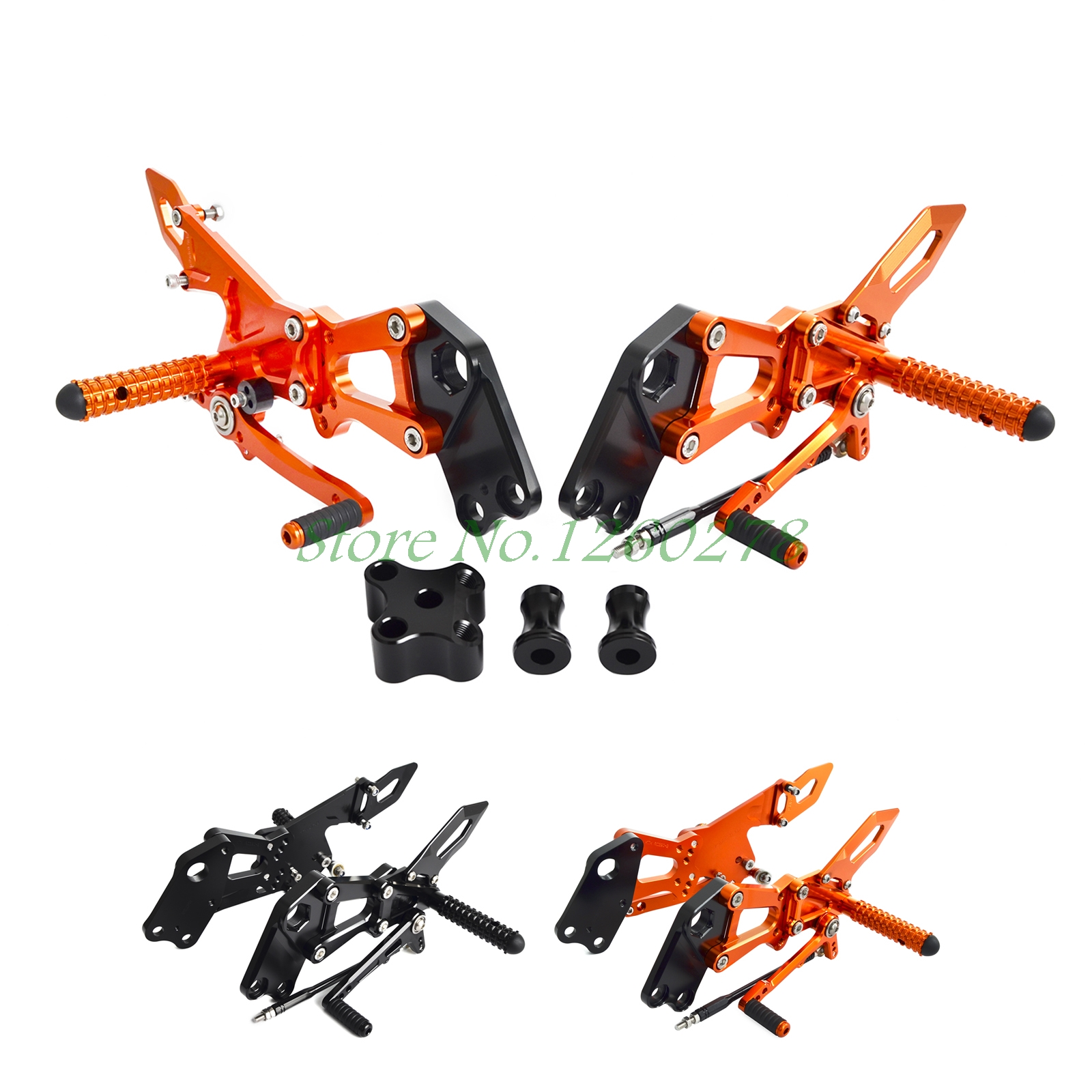 Motorcycle Rearsets Footrest Peg Rear Set For KTM RC 125 200 390 2014 2015 2016 2017 RC125 RC200 RC390 motorcycle front rider seat leather cover for ktm 125 200 390 duke