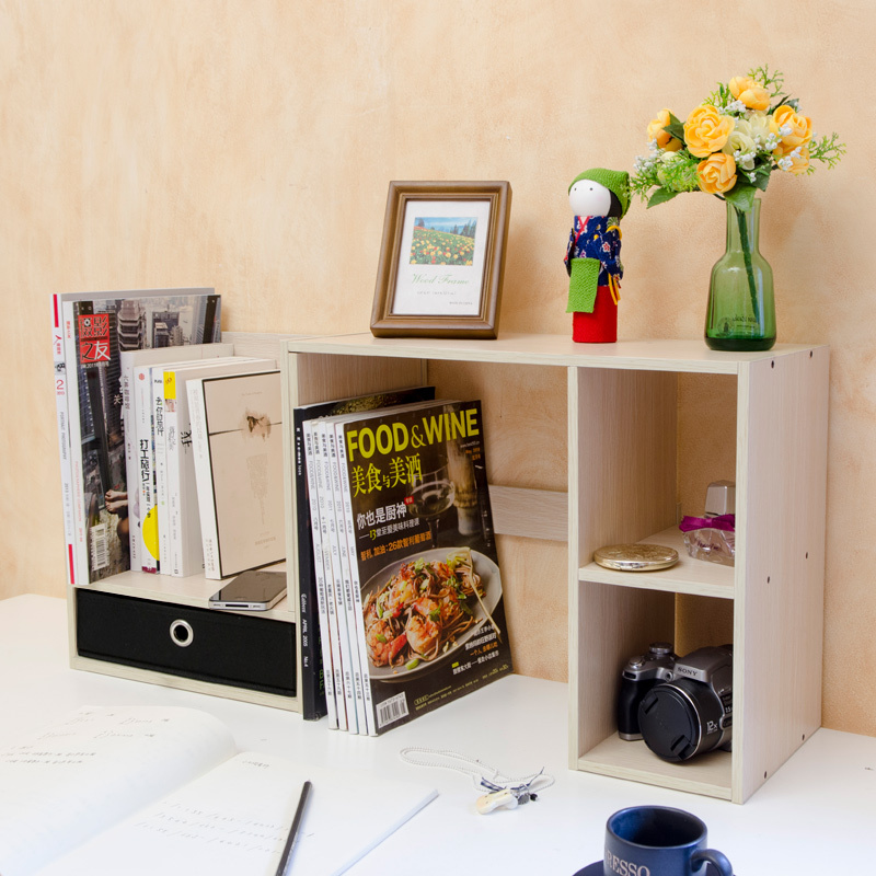 desk storage shelves deskideas. Black Bedroom Furniture Sets. Home Design Ideas