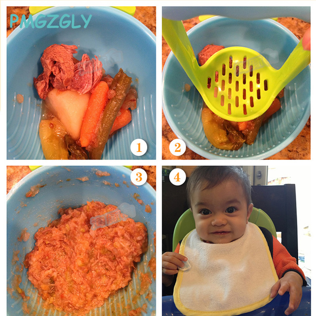 1Pc Baby Food Handmade Grinding Bowl Supplement Fruits /Vegetables Bowl Baby food grinder Child Holding Fine Grinding Rod