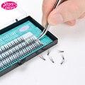 NEW Natural Thickness Dovetail Silk Eyelash Individual Lashes for Professional Eyelash Extension
