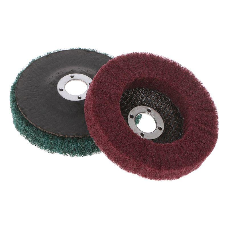 Nylon Machinery Metallurgy Fiber Grinding Wheel Polishing Buffing Disc Pad Abrasive Brush Rotary Tool -hol