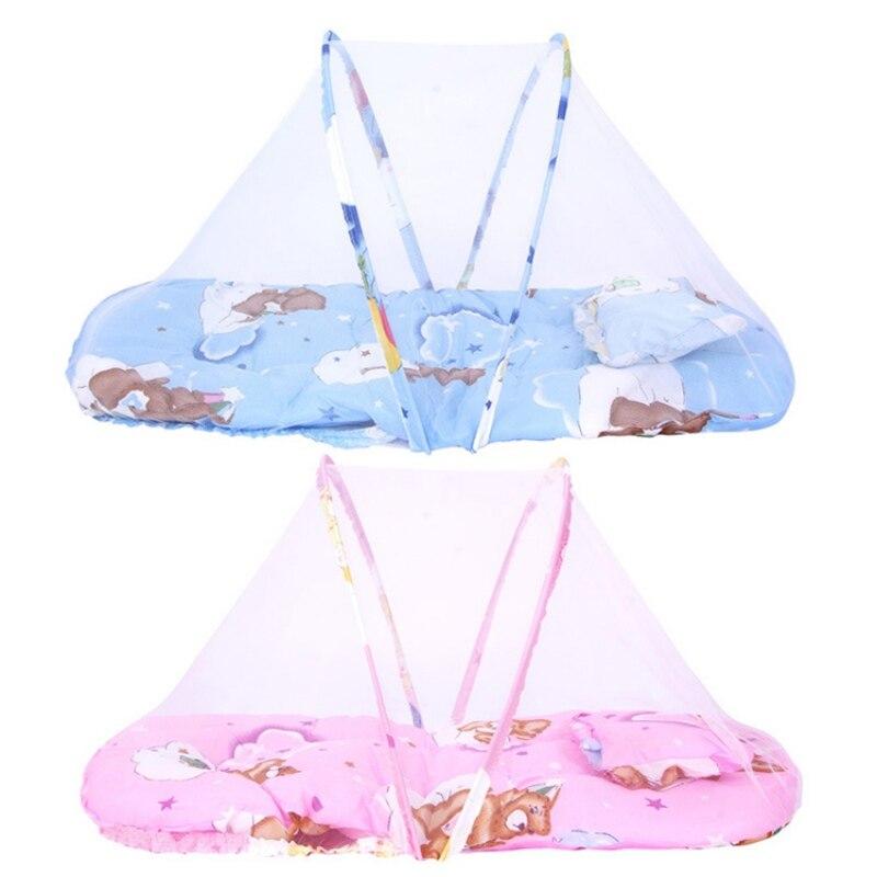 2019 Neuer Stil Baby Moskito Net Insekt Cradle Mit Tragbare Falten Baldachin Kissen Infant Bettwäsche Sommer Zubehör Baby Matratze Den Speichel Auffrischen Und Bereichern