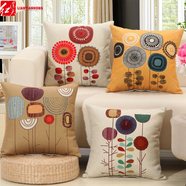 18x18inch 45 45cm Geometric Printed Creative Customized Diy Cushions Home Decors Sofa Seat Back Throw