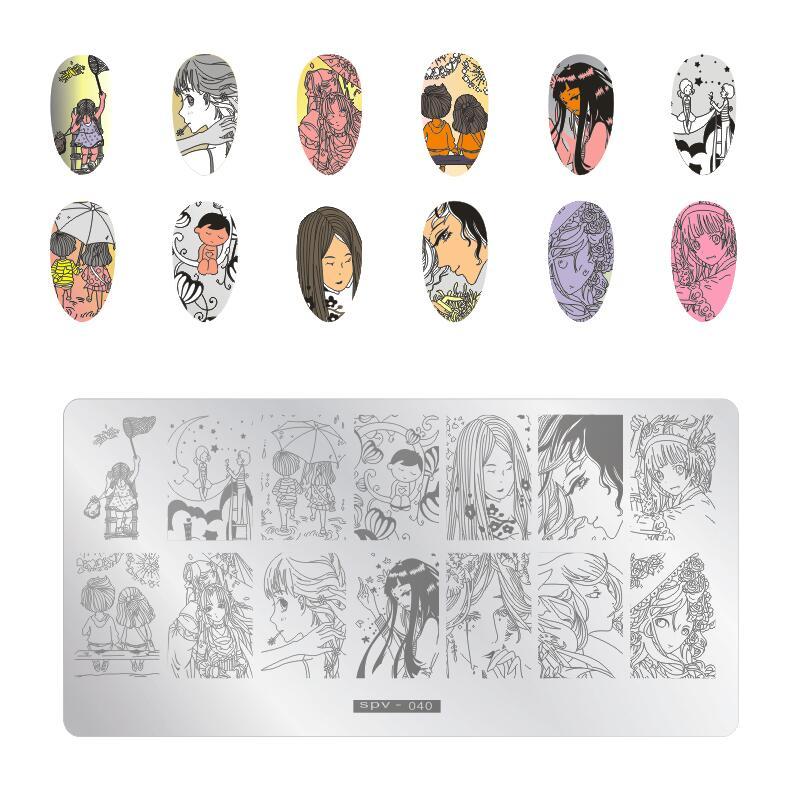 Nail Stamping Plate Template  Rabbit Anime Circus Clown Ant Image Template Nail Art Image Plate Stencil nail art Stamp Polish