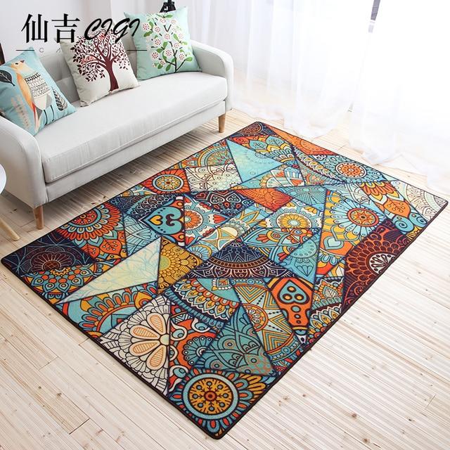CIGI Geometric Pattern Floor Mat Morocco Style Small Carpet Living Room  Bedroom Kitchen Bathroom Anti Skid