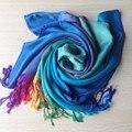 2 Color de Envío de La Nueva Moda de Invierno Mujeres Largo Abrigo de La Bufanda Del Mantón de Pashmina Bufandas
