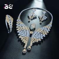 Быть 8 известный роскошные сверкающие капли воды Форма Для женщин свадебные Naija люкс для кубического циркония Цепочки и ожерелья Дубай плат