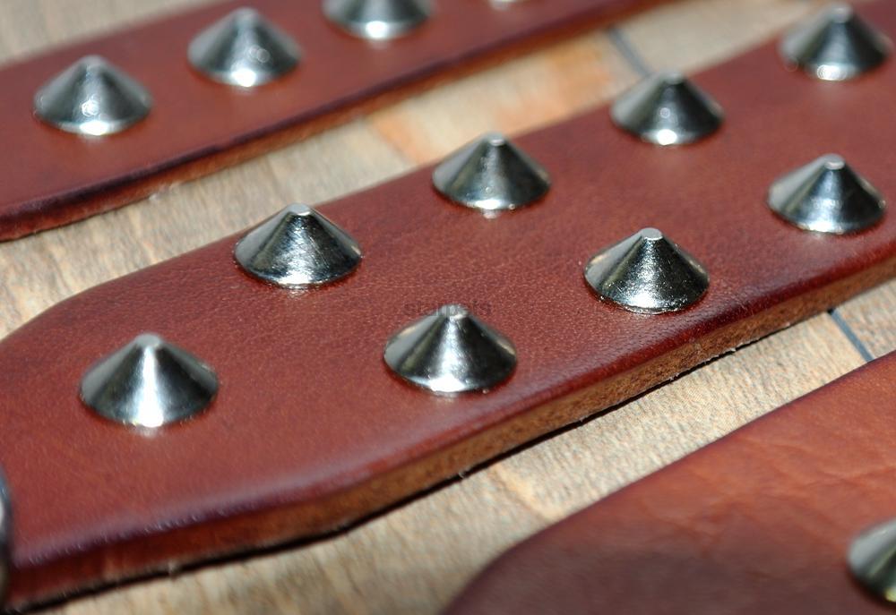 Cool Rivets Studded Best Genuine Leather Pet Dog Collars For Small - Producten voor huisdieren - Foto 3