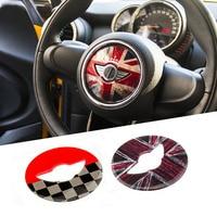 Union Jack Steering Wheel Center Sticker Decals Decoration For BMW MINI Cooper JCW F55 F56 Interior