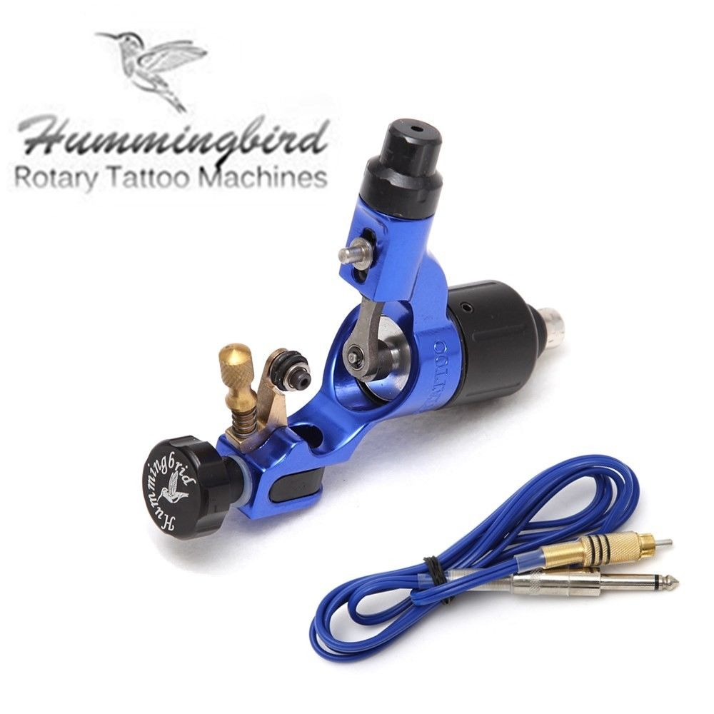 Original Hummingbird Rotary Tattoo Machine Motor Gun Swiss motor with cord blue juqi dragonfly rotary motor tattoo machine gun sapphire blue