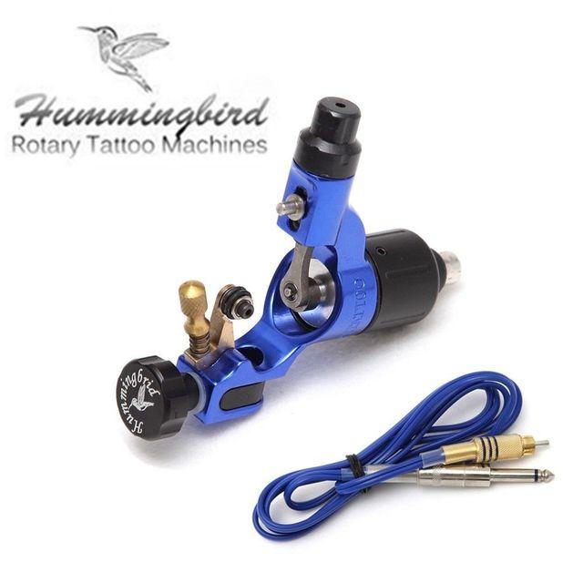 Original Hummingbird Rotary Tattoo Machine Motor Gun Swiss motor with cord blue