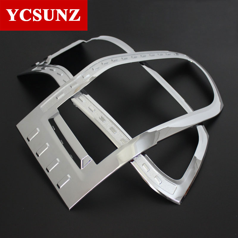 2012 2015 Head Lights Cover For Toyota Commuter Chrome black carbon fiber For Toyota Hiace 2013
