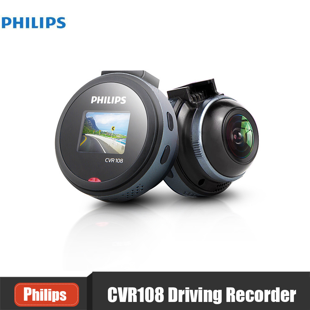 Philips CVR108 Hidden Car DVR Camera Video Recorder 1080P Night Vision Mini Car DVR Parking Monitor WDR G-Sensor Dash Cam anytek car dvr a100 novatek 96650 car camera ar0330 1080p wdr parking monitor night vision black box