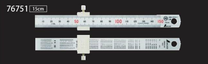Japanese stainless steel ruler thickened scale steel ruler with fixed stop 15cm/30cm