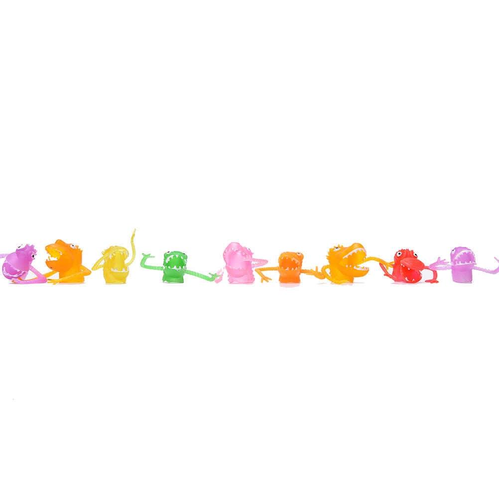 10 шт. пластиковые новые куклы игрушки палец история щенка игрушечные мини динозавры с маленьким пальцем гашапон игрушки