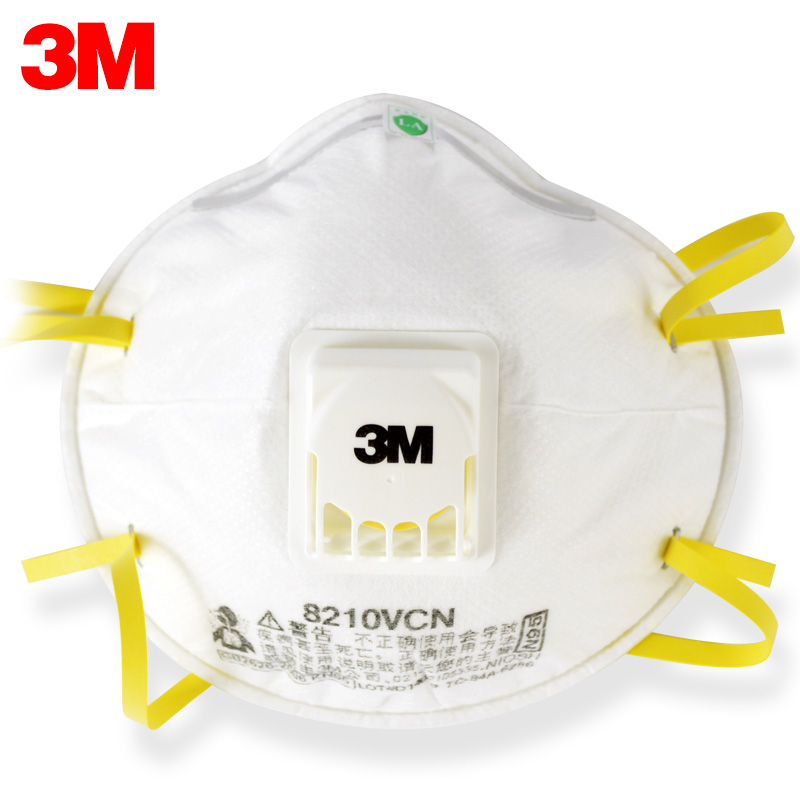 3M 8210V Masks 10pcs/Lot Coolflow Valve Particles Respirator Mask PM2.5 Dust Mask N95 Respiratory Protection LT047-in Particle Respirators from Security & Protection    1