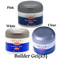 3pcs / sets  IBD Builder UV Gel Nail Pink Clear White Beauty Salon 2oz / 56g Strong Nail Art false tips extension