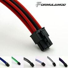 FormulaMod Fm-PCI6P-C, PCI-E 6Pin GPU удлинитель питания, материнская плата 18AWG 6Pin многоцветные соответствующие кабели расширения
