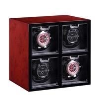 Expandable Black Red 2 6 Grid Motor Shaker Watch Winder Holder Display Automatic Mechanical Watch Winding Box Watch Storage Box