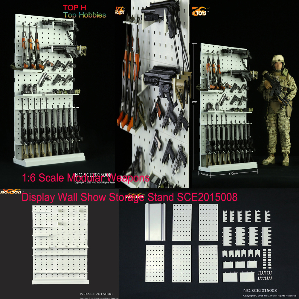 SCE008 1/6 Scale Gun Rack Modular Weapon Guns Display Stand Set Shelf (Weapons not included) For 12 Figure Toys Accessories 1 1 dva gun weapons model 25cm toys ow weapon cos d va gun halloween cosplay props dva weapon ow prop accessories ninja genji