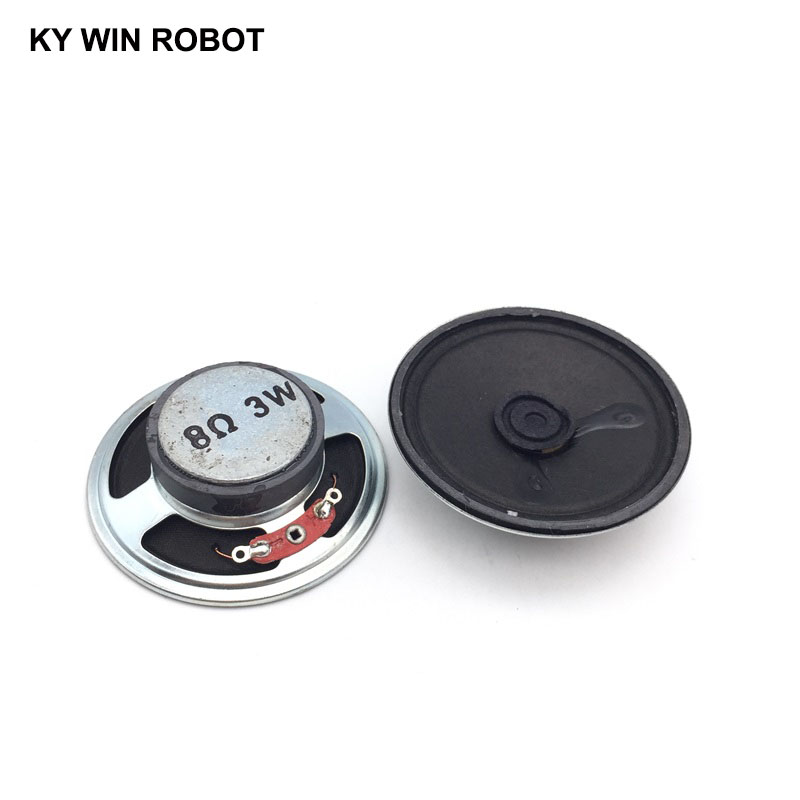 2pcs/lot New Magnetic Paper Cap Cone Speaker 8 Ohms 3 Watt 3W 8R Speaker Diameter 57MM 5.7CM Thickness 17MM